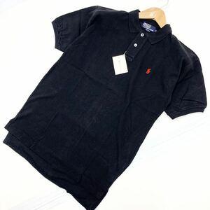 POLO RALPH LAUREN ポロラルフローレン 半袖 ポロシャツ ブラック USA製 アメリカ製 ビンテージ 90s 90年代 Mサイズ タグ付き■AA100
