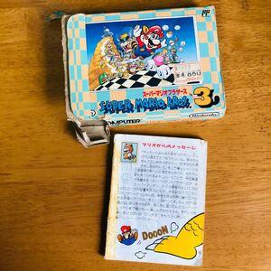 スーパーマリオブラザーズ3 ファミコンソフト 説明書 ファミコンカセット