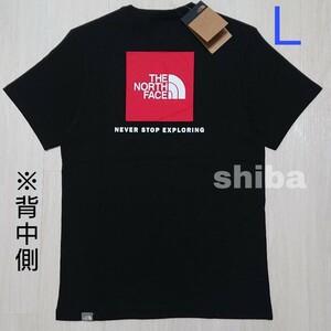 THE NORTH FACE ノースフェイス tシャツ 半袖 ボックスロゴ ブラック 黒 RED BOX レッドボックス 海外L