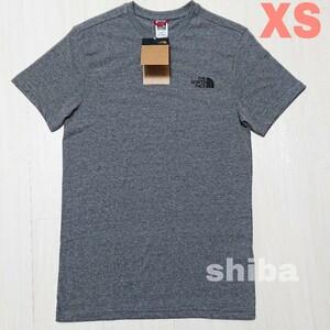 THE NORTH FACE ノースフェイス tシャツ 半袖 灰色 グレー シンプルドーム simple dome 海外XSサイズ