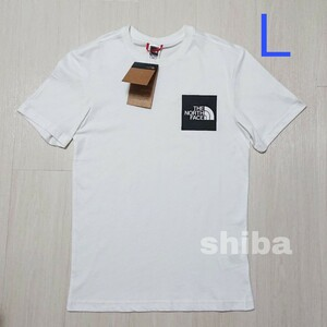 THE NORTH FACE ノースフェイス tシャツ 半袖 ロゴボックス Fine t-shirt 海外Lサイズ
