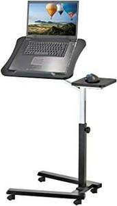 パソコンデスク ブラック PCデスク 昇降式 テレワーク サイドテーブル キャスター 寝室 ベッド 移動式 介護用 勉強机 仕事机 在宅ワーク