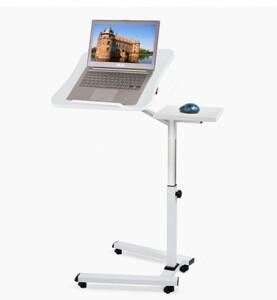 パソコンデスク ホワイト PCデスク 昇降式 テレワーク サイドテーブル キャスター 寝室 ベッド 移動式 介護用 勉強机 仕事机 在宅ワーク