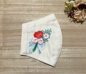 ハンドメイド 立体インナー  花束 刺繍