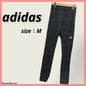 【LD2】adidas フィットネス ヨガ パンツ M 黒 ブラック adidas レギンス スパッツ