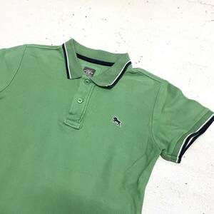 H&M 半袖ポロシャツ 緑 鹿の子生地 小さいサイズ 日本未入荷 L.O.G.G. 無地 ワンポイント