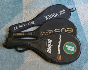 テニスラケット3本 ヨネックス RREXPLAY07 ヤマハ EOS GOLD PRINCE FORCE3 カバー付き中古