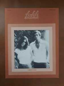 カーペンターズ インタビュー 冊子 1975年 希少品 トム・ノーラン
