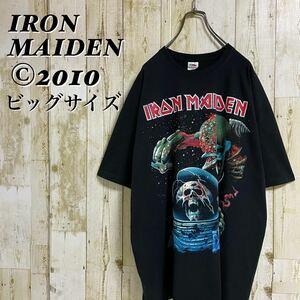 【美品】アイアン・メイデン ビッグプリント コピーライト 2010年 正規品 ビッグサイズ バンドTシャツ バンT メタルTee XXL 古着
