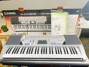 中古 CACIO カシオ 電子ピアノ 電子キーボード CTK-496 動作確認済み★美品