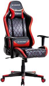 疲れにくい ゲーミングチェア ハイバック 3Dアームレスト アームレスト付き チェア イス 椅子 eスポーツ ゲーマー リクライニング レッド