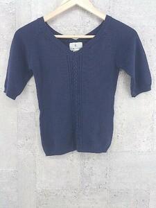 ◇ Kumikyoku 組曲 オンワード樫山 半袖 セーター 2 ネイビー * 1002798183490