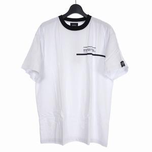 未使用品 スタンプド STAMPD × セルジオタッキーニ SERGIO TACCHINI CHASE TEE クルーネック プリント Tシャツ 半袖 XL 白 SLA-M2002TE