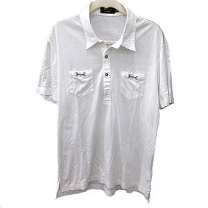 エポカ ウォモ EPOCA UOMO シャツ スキッパーカラー 半袖 48 白 ホワイト /RT メンズ