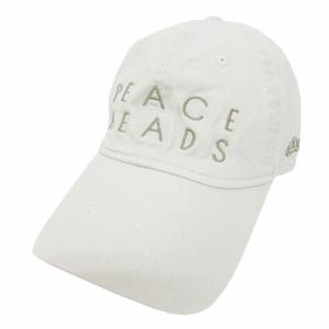 ニューエラ NEW ERA ベースボールキャップ 帽子 英字 刺繍 コットン SMALL オフホワイト 白
