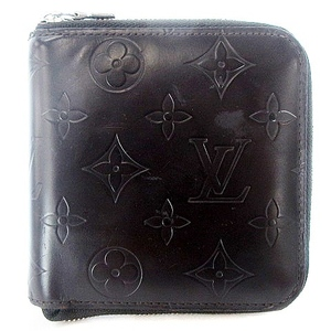 ルイヴィトン LOUIS VUITTON M66510 モノグラム グラセ ポルトビエ モネ ジップ ラウンドファスナー 二つ折り 財布 コンパクト 茶 メンズ