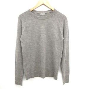 ディオールオム Dior HOMME 05AW GLAM期 ニット セーター 長袖 ダメージ加工 ウール グレー /NM ■IBS81 メンズ