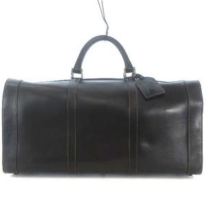 ダンヒル dunhill ヴィンテージ ボストン バッグ 旅行 かばん カバン 鞄 レザー ブラック 黒 メンズ
