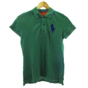 ラルフローレン RALPH LAUREN ポロシャツ カットソー 半袖 鹿の子 ビッグポニー ロゴ M 緑 グリーン トップス /CK メンズ