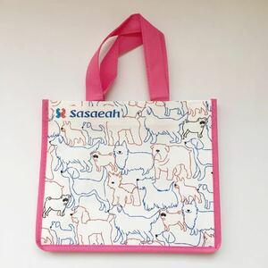新品*ペット用品 お散歩バッグ エチケットバッグ 犬柄 ピンク