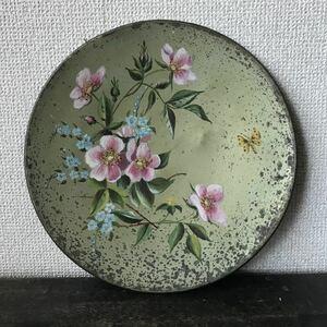 アンティーク 飾り皿 真鍮 トレイ飾り皿 絵皿 ドイツ ロイヤルドルトン ファインアート 花の妖精 プレート 骨董