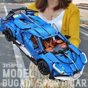 [新作] LEGO互換 レゴ風 テクニック ブガッティ ディーボタイプ 3858ピース