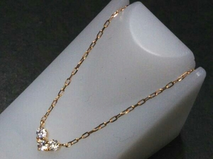 【4℃】【K10】ネックレス 35-38cm アクセサリー 貴金属 中古