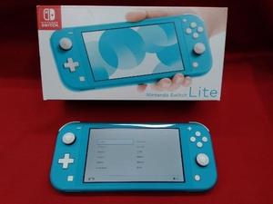 ニンテンドースイッチライト本体 【初期化済み】Nintendo Switch Lite ターコイズ スティック ベタつきあり 箱一部ヤケムラあり