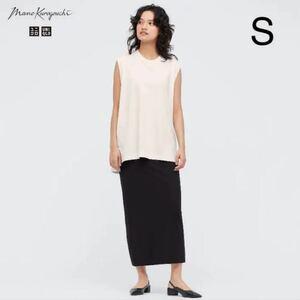 S エアリズムコットンスリットスカート 黒 ブラック マメ ユニクロ mame