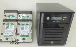 Buffalo TS5400D WesterDigital 3TB×4台(使用時間 949h,3196h,4435,5596h)