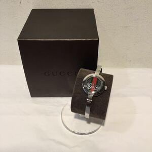 GUCCI グッチ 腕時計 バングルウォッチ 105 GG グリーン レッド シルバー 441152
