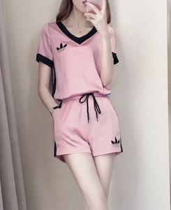 レディース部屋着 半袖上下セット サイズ M ピンク【Pza】パジャマ ルームウェア