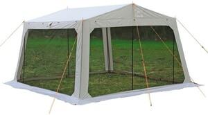 モンテ メッシュタープ スクエアタープ アウトドア キャンプ BBQ バーベキュー 虫除け 虫よけ 雨よけ