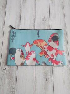 浮世絵 名画 お土産 メイクポーチ コスメポーチ 歌川国芳 金魚づくし 化粧ポーチ ポーチ