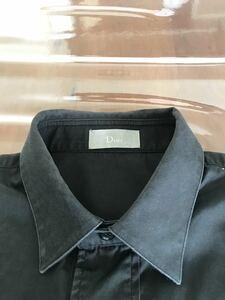 ディオール 長袖シャツ  黒 37