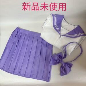 セーラー服 紫 パープル コスプレ 半袖