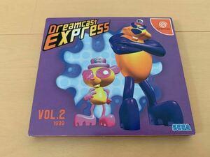 DC体験版ソフト SEGA OFFICIAL CLUB DREAMCAST EXPRESS 第2号 SEGA DEMO DISC 非売品 セガ ファンディスク fan disk ドリームキャスト