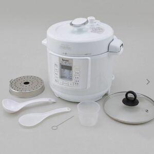 新品未使用未開封 エムケー精工 電気圧力鍋 ヘルシーマルチポット ホワイト EA-130W 圧力鍋 調理器具