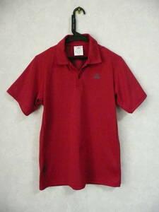 adidas 良美 半袖ポロシャツ/スポーツポロシャツ レッド メンズM 身長165-170cm 伸縮/通気 テニス ゴルフ ランニング アディダス