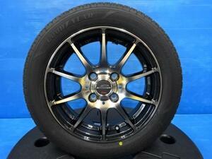 【 新品タイヤ 中古アルミ 4本セット】 グッドイヤー エフィシエントグリップ 155/65R14 14インチアルミ タント ムーヴ N-BOX 軽自動車多数