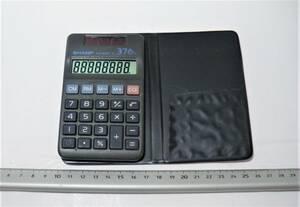 SHARP エルシーメイト EL-376G 手帳型ソーラー電卓 カバー付き  動作品