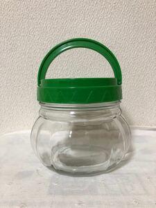 廃盤 IKEA 蓋付き 取っ手付き 保存瓶 ガラス瓶 ガラス容器 小 昭和レトロ レトロポップ