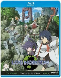 【送料込】ログ・ホライズン 第1+2期 全50話 (北米版 ブルーレイ) Log Horizon blu-ray BD