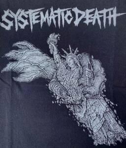 システマティックデス Tシャツ 黒ブラック PUNK パンク ハードコア ジャパコア GISM GAUZE OUTO GHOUL LIPCREAM ディスクローズ レア廃盤
