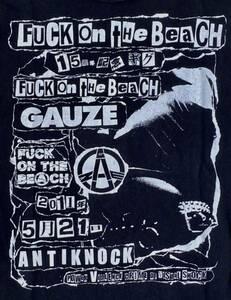 GAUZE ガーゼ Tシャツ 黒ブラック PUNK パンク ハードコア ジャパコア GISM OUTO GHOUL LIPCREAM アスフォート ディスクローズ レア廃盤