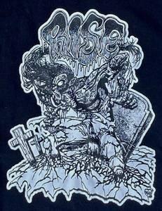 ライズ フロム ザ デッド Tシャツ 黒ブラック TOM PUNK パンク ハードコア ジャパコア GISM GAUZE OUTO LIPCREAM ディスクローズ レア廃盤