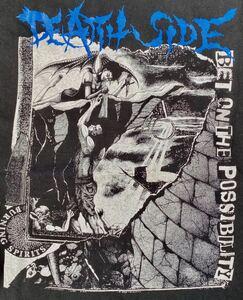 デスサイド Tシャツ 黒ブラック PUNKパンク ハードコア ジャパコア GISM GAUZE OUTO GHOUL LIPCREAM アスフォート ディスクローズ レア廃盤