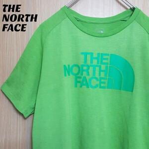 THE NORTH FACE ザ・ノースフェイス 半袖Tシャツ ビッグロゴプリント グリーン L