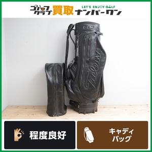 【防水本革 限定モデル】タイトリスト メンズ キャディバッグ ブラック 9型 47インチ対応 ブラックリミテッド キャディーバック CB580