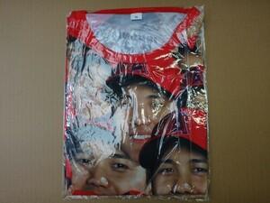 MLB エンゼルス 大谷翔平 顔だらけ Tシャツ サイズ:XL 非売品 入手困難 限定品 エンジェルス 本物 オリジナルモデル 背面印字 刻印あり